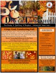 Front cover of the Fall 2017 Dover Township Newsletter. Orange background with black text. Pictures of fall leaves and pumpkins.
