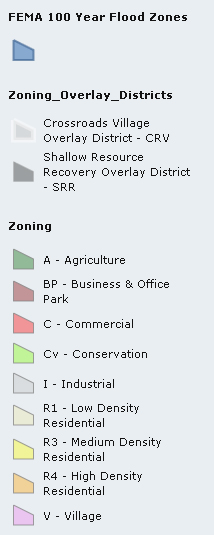 Zoning Map Legend