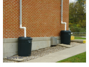 Rain barrels are part of our Stormwater Pollution Prevention Plan.