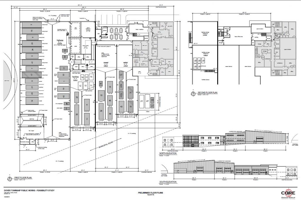 Dover Township public works preliminary floor plan