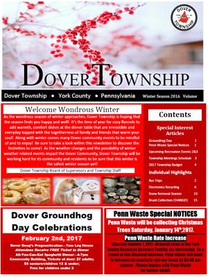 Winter 2017 Newsletter Cover