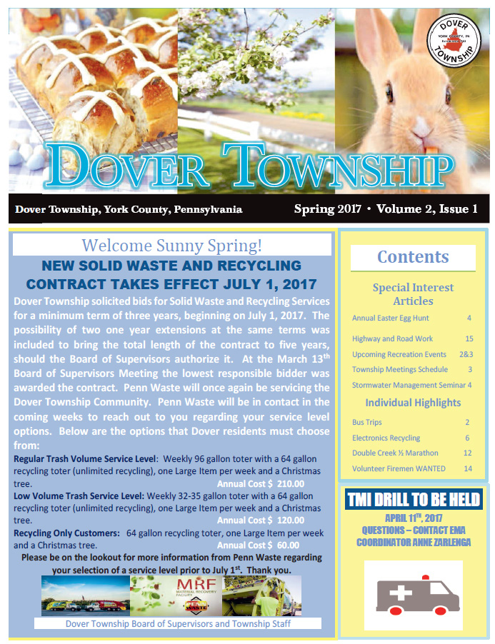 Cover of the Spring 2017 Newsletter in pastel colors. Click the image to download the PDF Newsletter.