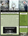 Front cover of the 2018 Winter newsletter. Light green background with black text. Pictures of snow at the top.