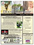 Front cover of the Spring 2018 Dover Township Newsletter. Pastel yellow background with black text. Picture of a fawn, child and a tree. Click the image to download a PDF copy of the newsletter.