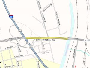 topographic map with route 30 highlighted in yellow between interstate 83 and codorus creek in york county.