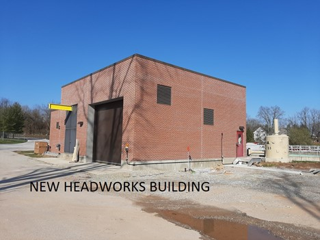 a picture of the new red brick headworks building located at the Dover Township Wastewater Treatment Plant